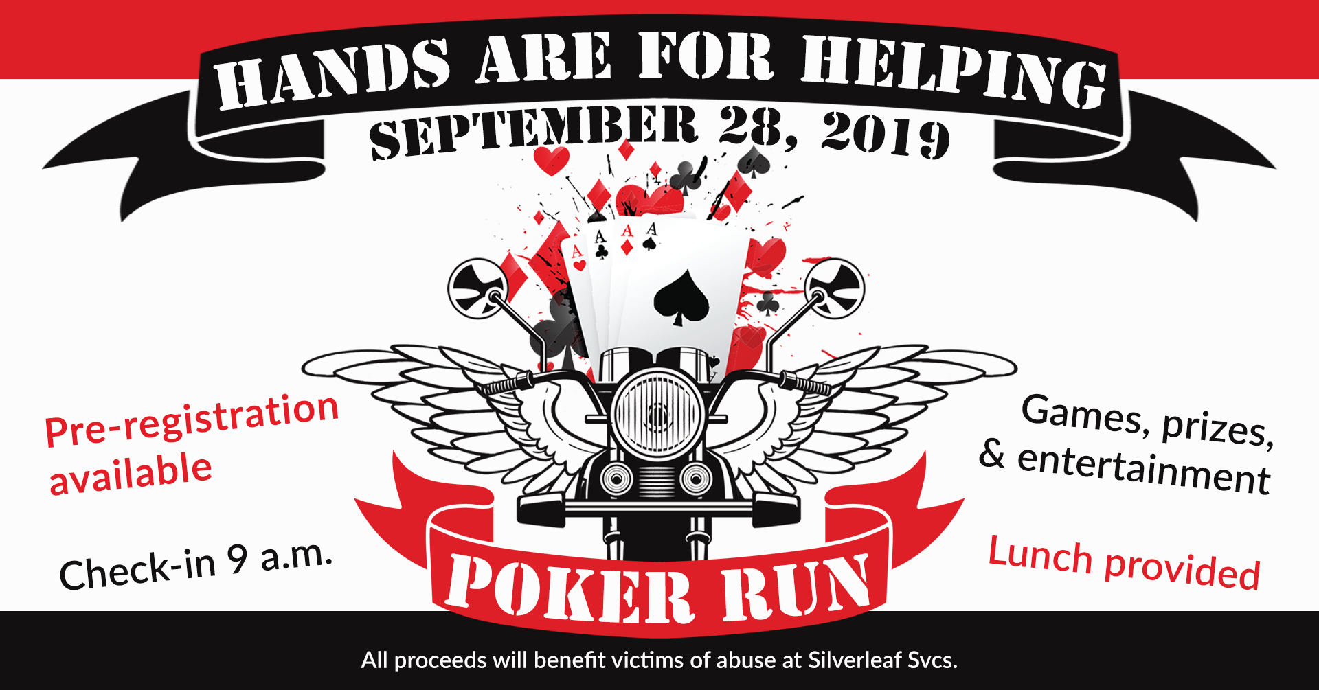 Hands Are For Helping Poker Run Event Header Image
